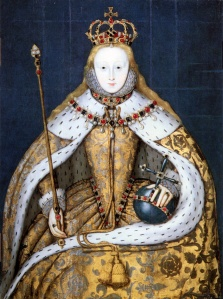 Elizabeth I in coronation robes.