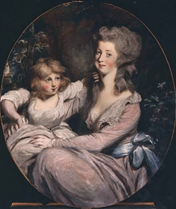 Peggy Shippen Arnold (wife of Benedict Arnold) with one of her children, possibly her daughter Sophia (1785–1828) by Daniel Gardner