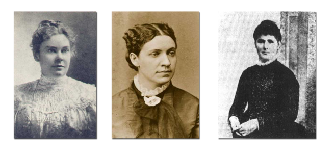 From left to right:  Lizzie Borden, Emma Borden, and Bridget Sullivan.