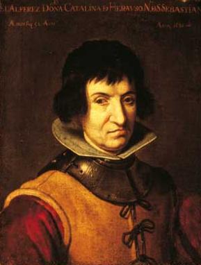 Catalina de Erauso, portrait attributed to Juan van der Hamen