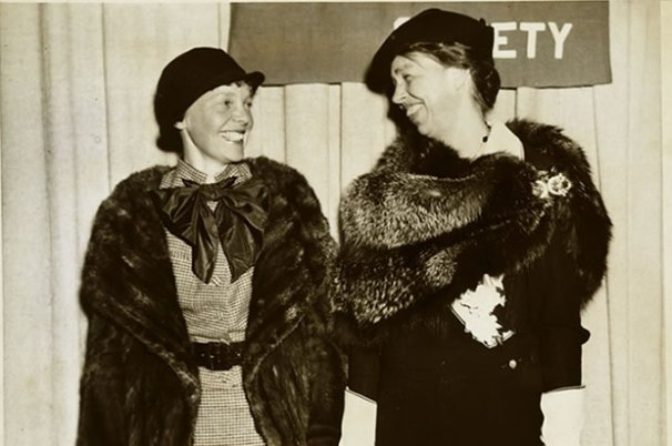 Amelia Earhart (left) and Eleanor Roosevelt (right). Photo retrieved from history.com.